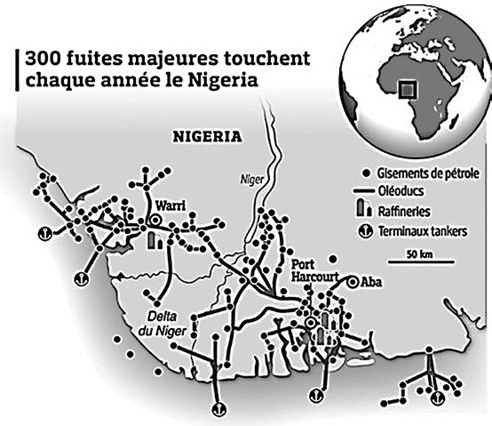 300 fuites majeures touchent chaque année le Nigéria